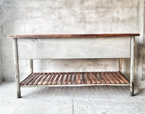 Vintage Industrial Kitchen Worktable For Sale At Pamono
