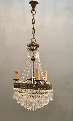 Vintage Crystal Beaded Chandelier 1940s For Sale At Pamono