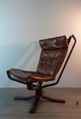Vintage Danish Wood And Leather Lounge Chair By Sigurd Ressell For Trygg 1970s For Sale At Pamono