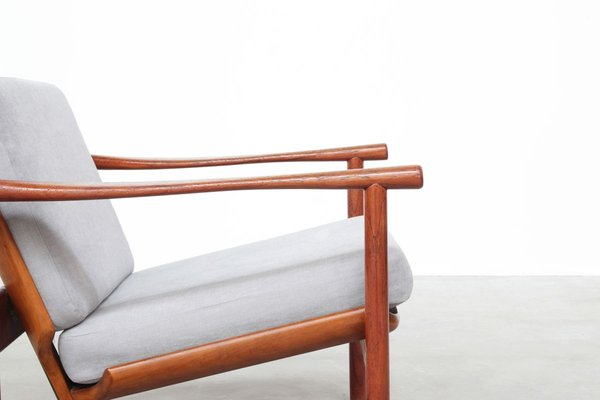Mid Century Teak Lounge Chair by Illum Wikkelso for Koefoed's Møbelfabrik, 1960s