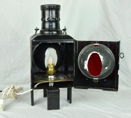 Train Lantern Table Lamp 1920s For, Train Table Lamp