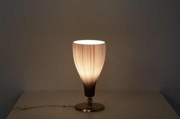 Italian Table Lamp In Brass And Glass From Venini Italy 1950s For Sale At Pamono