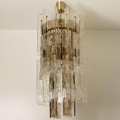 Murano Curved Crystal Chandelier Attributed Carlo Nason