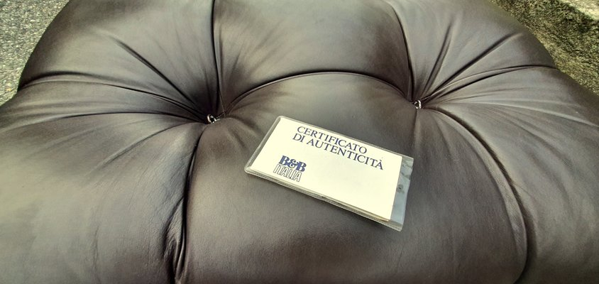 Vintage Leather Modular Camaleonda Sofa by Mario Bellini for B&B Italia C&B Italia, 1970s, Set of 6