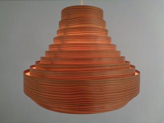 Lamella Deckenlampe aus Holz von Hans Agne Jakobsson für Hans Agne Jakobsson AB Markaryd, 1960er