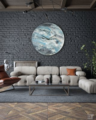 Large Wall Clock Modern Home Decor For Living Room By Craig Anthony For Sale At Pamono