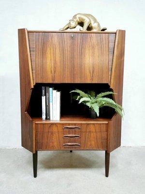 Mid Century Rosewood Corner Bar Cabinet, Corner Bar Furniture