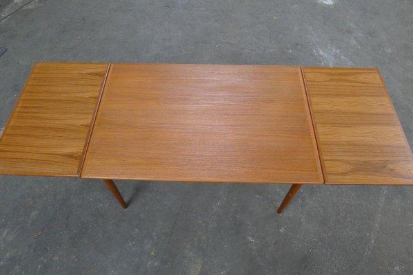 table de salle a manger a rallonge mid century en teck danemark 1960s