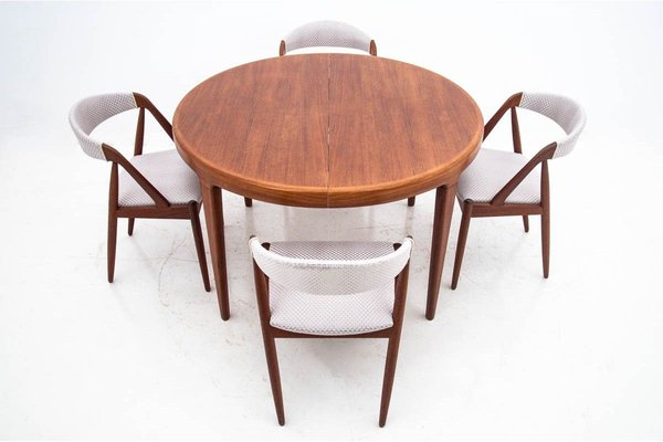 Teak Dining Table Chairs Set By Johannes Andersen 1960s Set Of 5 For Sale At Pamono
