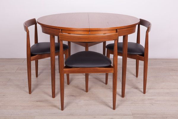 Mid Century Teak Dining Table Chairs Set By Hans Olsen For Frem Rojle 1950s Set Of 5 For Sale At Pamono