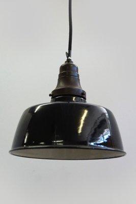 Small Industrial Enameled Ceiling Lamps 1930s Set Of 2 For Sale At Pamono