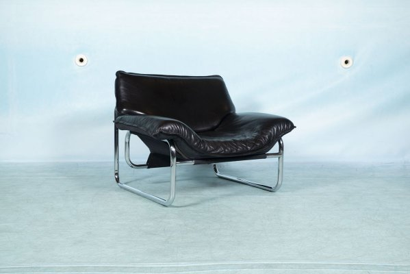 Vintage Leather Lounge Chair By Johann Bertil Haggstrom For Ikea 1980s For Sale At Pamono