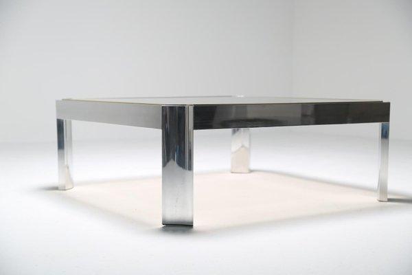 Verre Avec En Aluminium Table Basse Mid Century Socle Pk8nw0XO