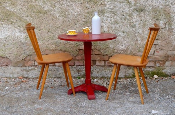 Art Deco Round Dining Table 1930s Bei Pamono Kaufen