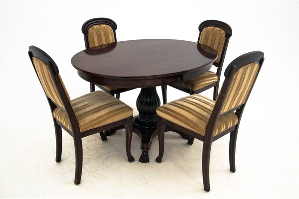 Antique Dining Table Chairs Set 1910s Set Of 5 For Sale At Pamono