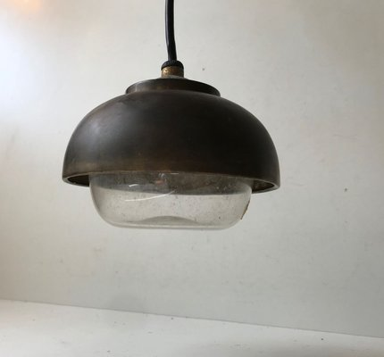 Bauhaus Nautical Brass And Glass Ceiling Lamp 1930s For Sale At Pamono