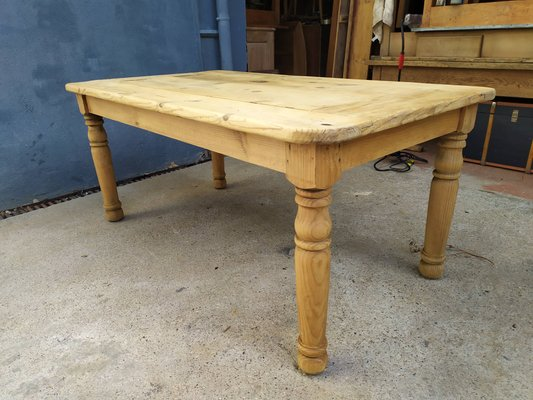 Vintage Pinewood Dining Table For Sale At Pamono