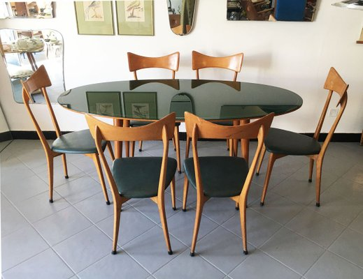 Mid Century Dining Table Chairs Set, Mid Century Dining Room