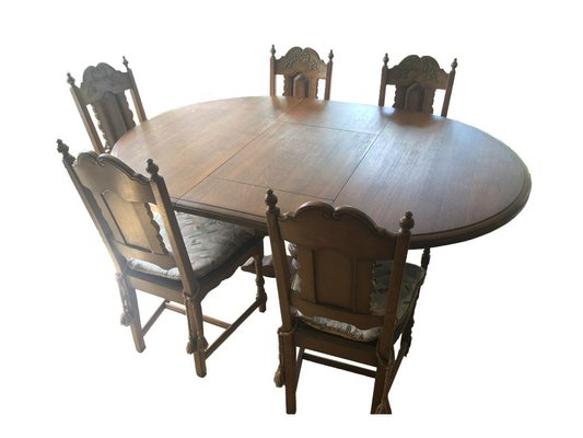 Cucina Letters Kitchen Decor, Wooden Dining Table Chairs Set Set Of 6 For Sale At Pamono