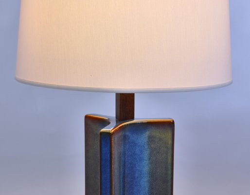 Large Danish Modern Blue Table Lamp From Soholm 1960s For Sale At Pamono