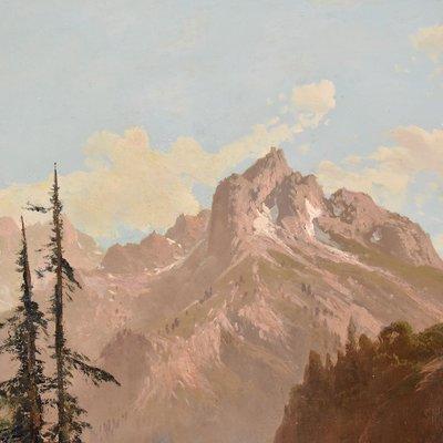 Peinture De Paysage Du Berger Et Du Flock Mountain Du 19eme Siecle Par Godchaux Emile En Vente Sur Pamono