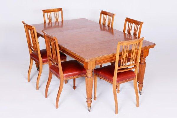 19th Century British Satin Wood Dining, 12 Seat Dining Room Table Sets