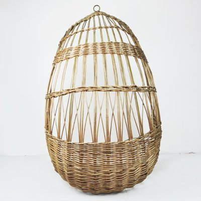 Vintage Woven Rattan Hanging Egg Chair 1960s For Sale At Pamono