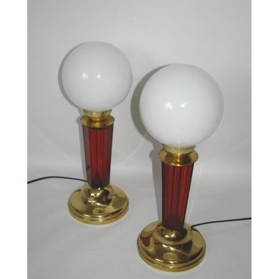 Art Deco Style Table Lamps 1950s Set Of 2 For Sale At Pamono