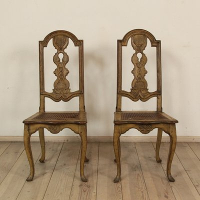 Antique Swedish Baroque Chairs Set Of 2 For Sale At Pamono