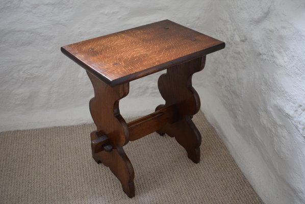 Small Antique Peg Jointed Oak Side Table 1880s For At Pamono - Antique Small Oak Side Table With Drawer