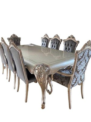 Baroque Handmade Dining Room Table Armchairs Set Of 9 For Sale At Pamono