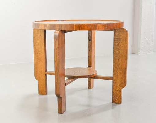 Art Deco Style Amsterdam School Solid Wood Chess Side Table 1950s For Sale At Pamono