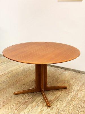 Mid Century Modern Round Teak, Round Mid Century Modern Dining Table