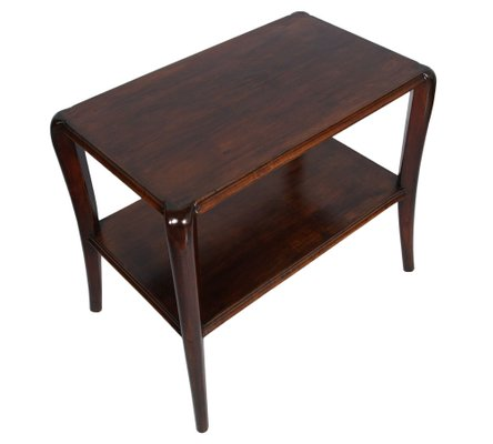 Art Deco Coffee Table In Walnut With 2 Panelled Tops By Paolo Buffa For Sale At Pamono