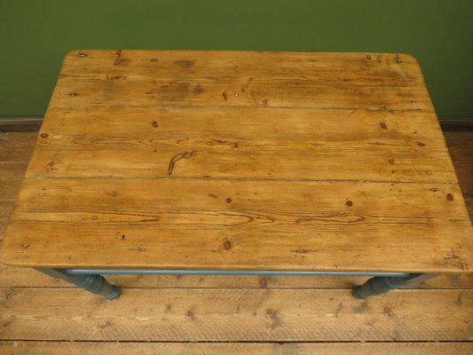 Antique Painted Pine Country Dining Table For Sale At Pamono