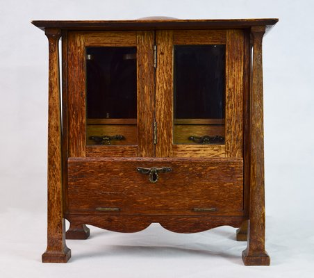 Antique Arts Crafts Smokers Cabinet For Sale At Pamono