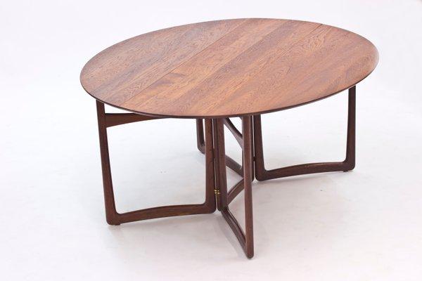 Teak Drop Leaf Dining Table By Peter Hvidt Orla Molgaard Nielsen For France Son 1960s For Sale At Pamono