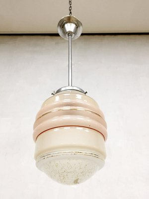 Vintage Art Deco Soft Pink Pendant Lamp 1930s For Sale At Pamono