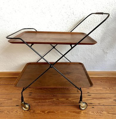 Mid Century Teak Serving Trolley 1950s For Sale At Pamono