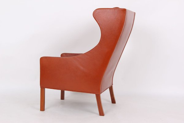 Leather 2204 High Back Chair By Børge Mogensen For Fredericia Denmark 1984 For Sale At Pamono