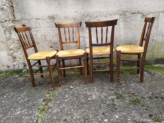 Rustic Dining Chairs Set Of 4 For Sale At Pamono