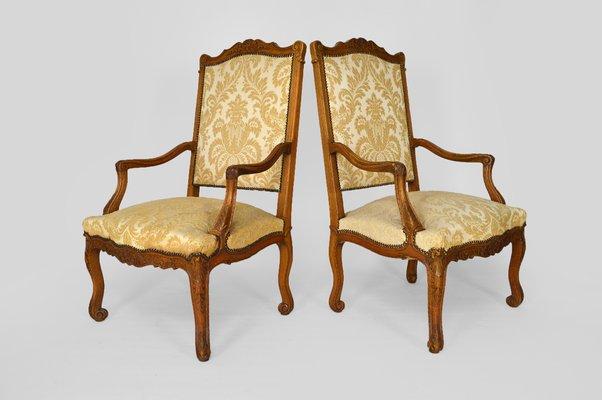 Antique Louis Xv Carved Oak Lounge, Louis Xv Furniture