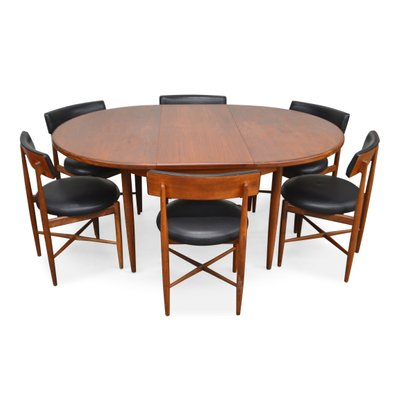 Vintage Teak Extendable Dining Table Chairs Set From G Plan Set Of 7 For Sale At Pamono