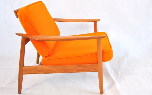 Teak Easy Chair By Arne Vodder For France And Son 2