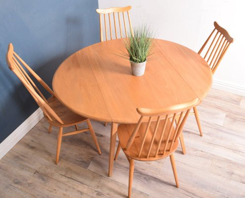 Vintage Blonde Model 384 Windsor Dining Table Model 359 Goldsmith Chairs From Ercol Set Of 5 For Sale At Pamono