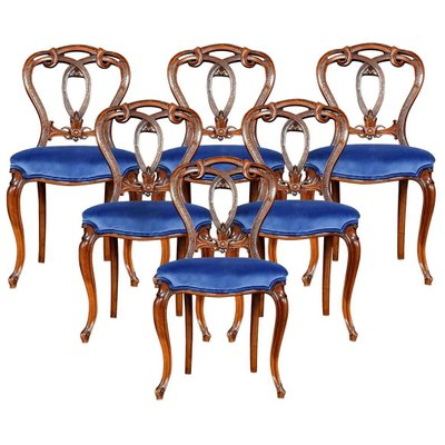 Victorian Walnut Dining Room Chairs Set Of 6 For Sale At Pamono