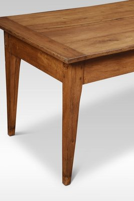 Large Antique Oak Farmhouse Kitchen Dining Table For Sale At Pamono