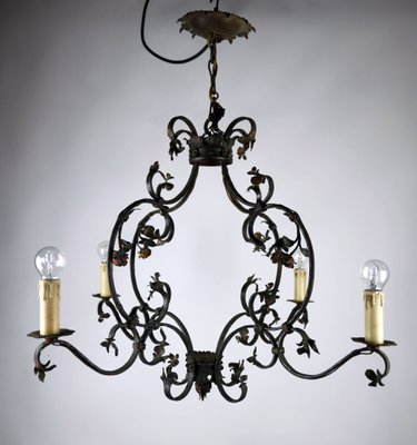 Antique Romantic Wrought Iron Roses, Wrought Iron Chandelier Nz