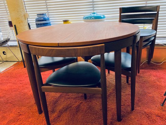 Mid Century Danish Roundette Dining, Dining Room Table And Chair Sets