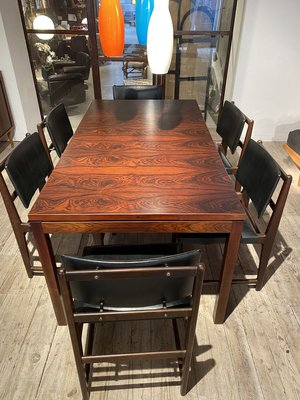 Vintage Rosewood Dining Table Chairs, Dining Room Table And Chair Sets